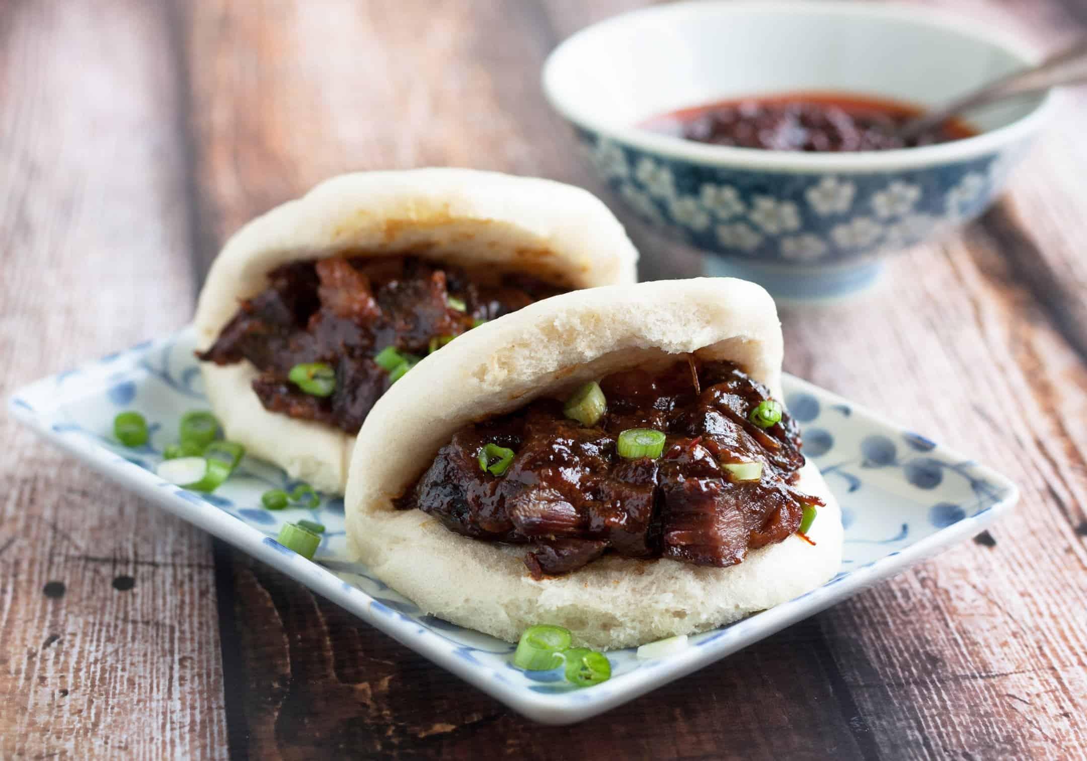 Image result for char siu bao red pork