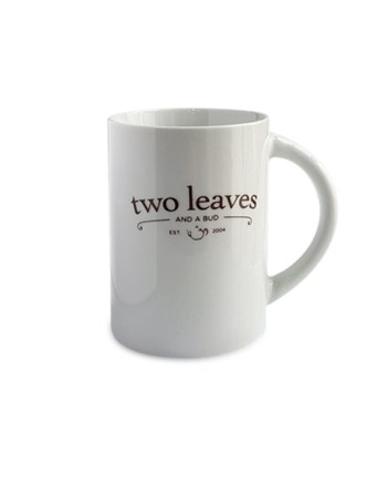 Mug de Té Blanco Brillante Two Leaves