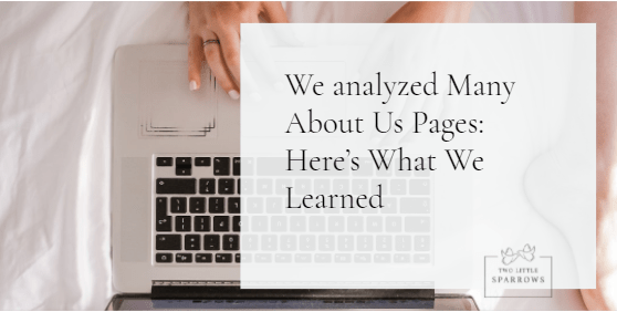 We analyzed Many About Us Pages: Here's What We Learned