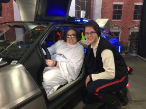 Han and Leia in the Delorean from Back to the Future
