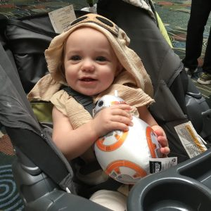 We stopped by the Disney Store after Chick Fil A and found BB-8 for our little Rey