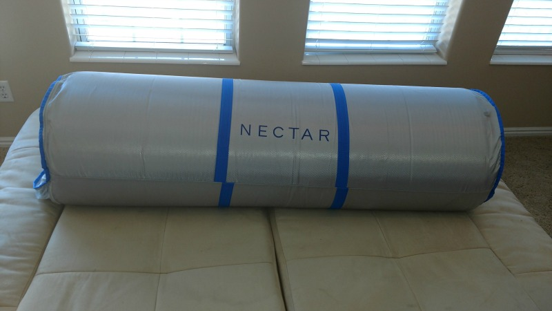 Nectar mattress before it's unboxed