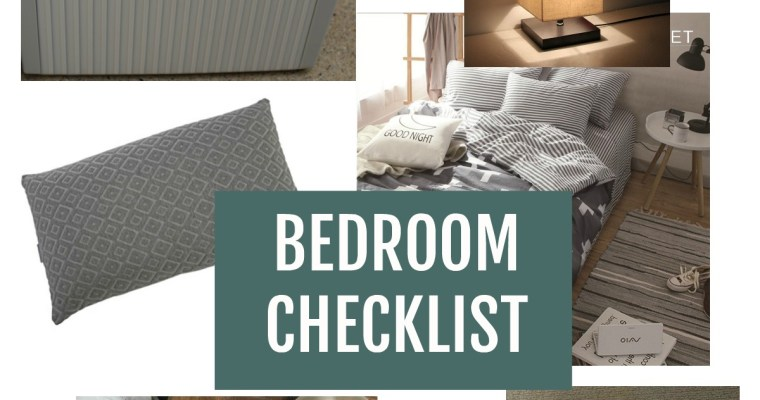 Bedroom Checklist: Bedroom Necessities