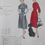 9823 Mccalls 1954 Winter Vintage Pattern | 1950s Two Old Beans Vintage Clothing