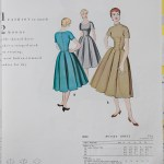 9850 Mccalls 1954 Winter Vintage Pattern | 1950s Two Old Beans Vintage Clothing
