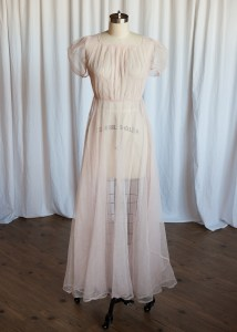 Yours Truly dress | vintage 30s dress | pink netting 1930s gown | sheer pink evening / party / prom / dancing dress