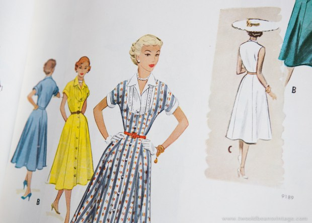 9350 Mccalls 1954 Winter Vintage Pattern | 1950s Two Old Beans Vintage Clothing