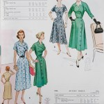 9538 + 9296 Mccalls 1954 Winter Vintage Pattern | 1950s Two Old Beans Vintage Clothing