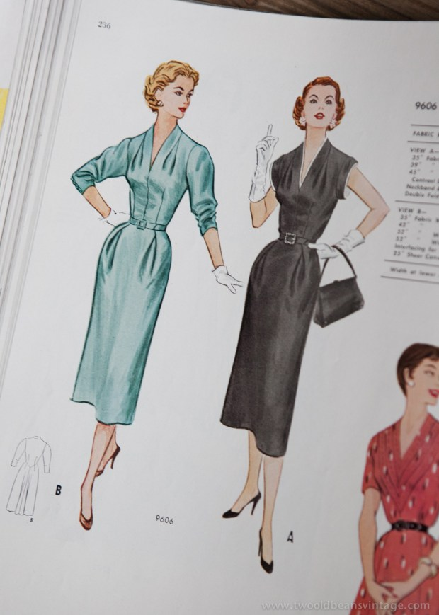 9606 Mccalls 1954 Winter Vintage Pattern | 1950s Two Old Beans Vintage Clothing