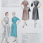 9796 + 9752 Mccalls 1954 Winter Vintage Pattern | 1950s Two Old Beans Vintage Clothing