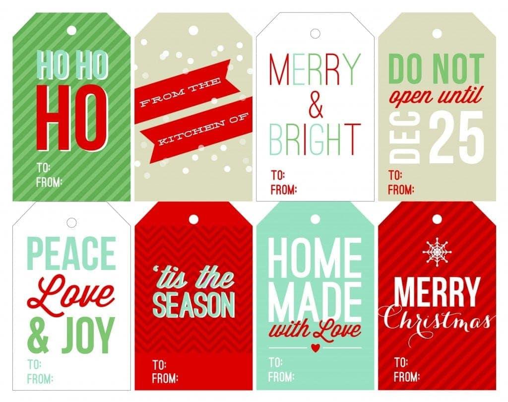 Free Holiday Printable T Tags