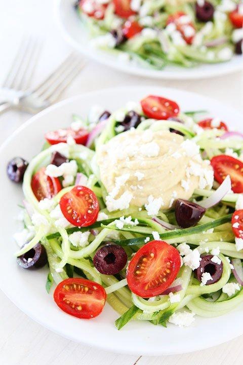 Greek Cucumber Noodles Recipe #glutenfree