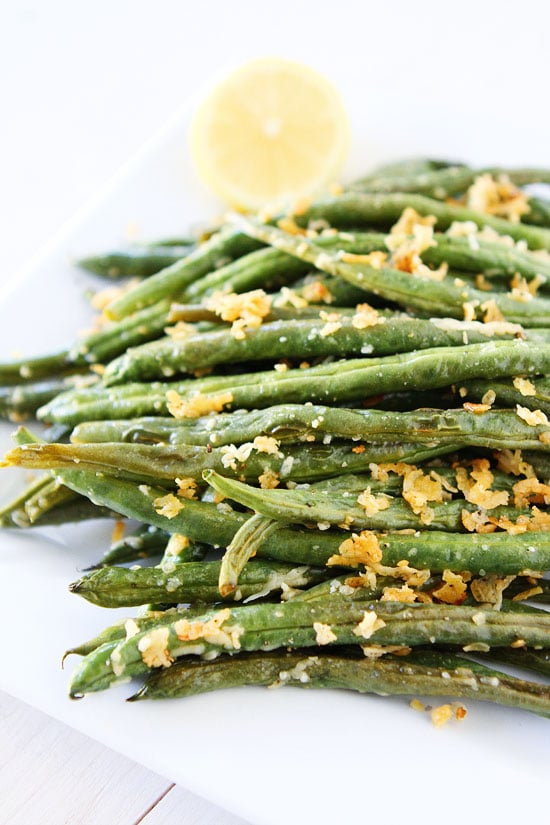 Roasted Frozen Green Beans With Parmesan