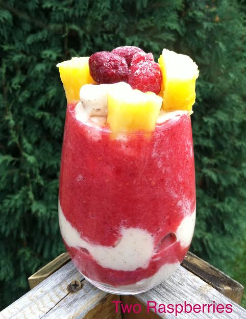 Raspberry Pineapple Nana parfait