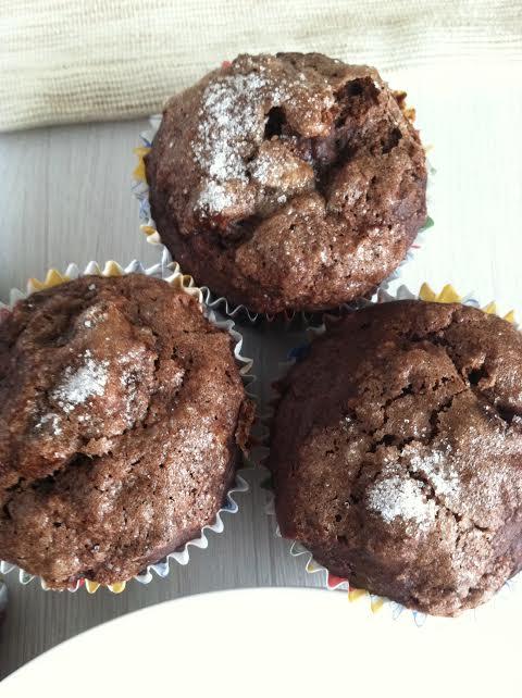 chocolate banana muffins 1