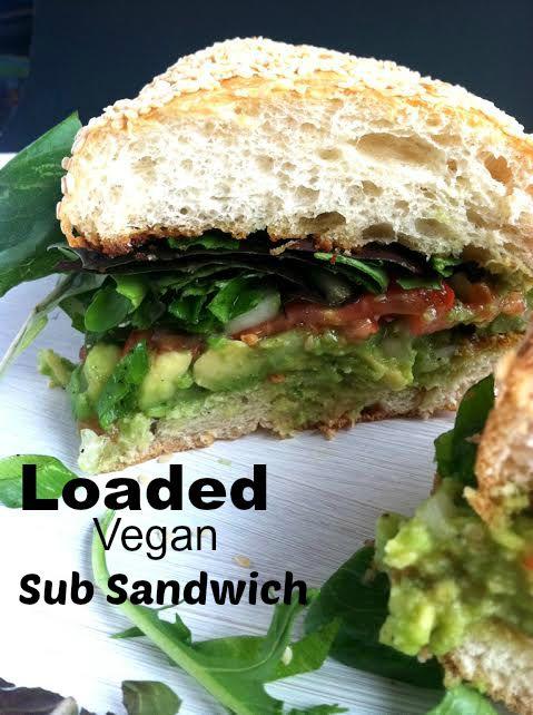 Loaded Vegan Sub Sandwich
