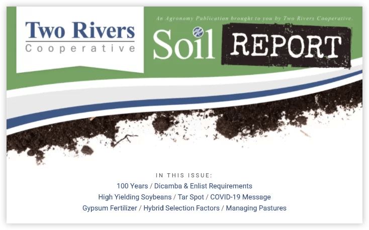 Two Rivers Cooperative April 2020 Soil Report