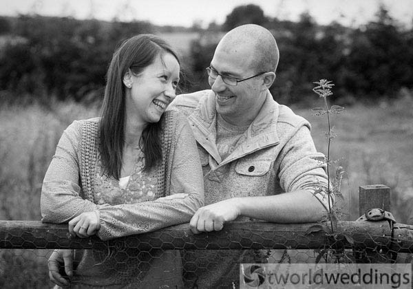 Couple at their engagement photo shoot on location in Lichfield Staffordshire near Tamworth. Also covering Birmingham Wets MIdlands and all of the UK