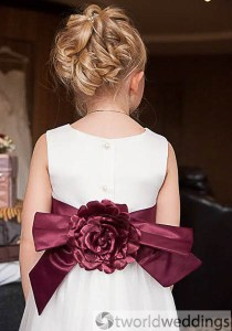 flower girl hairstyling for wedding at Drayton Manor,Tamworth,Staffordshire