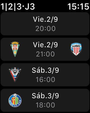 Liga 123 La Liga Apple Watch