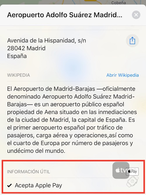 Apple Pay en Maps