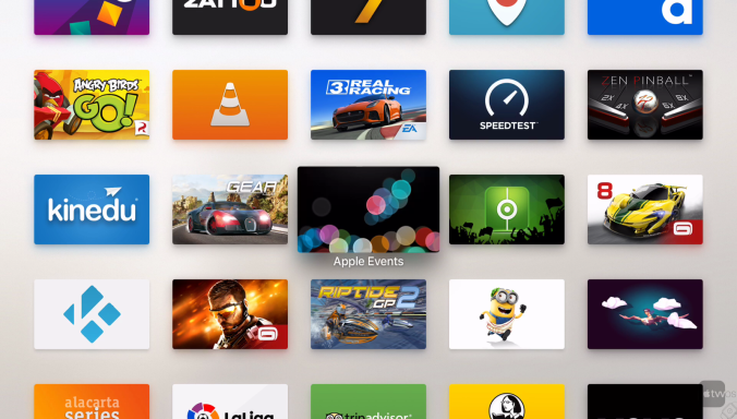 Icono Apple Events en Apple TV 4
