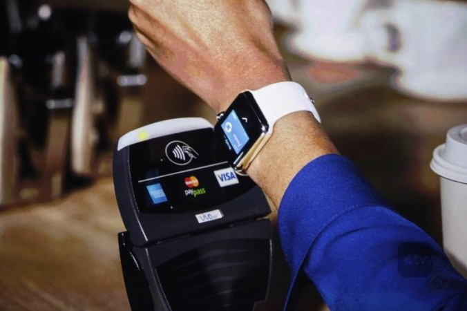 pagando con Apple Pay en Apple Watch