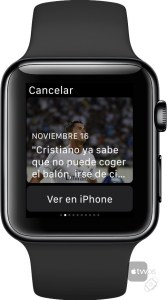 Noticias en Resultados de Futbol para Apple Watch
