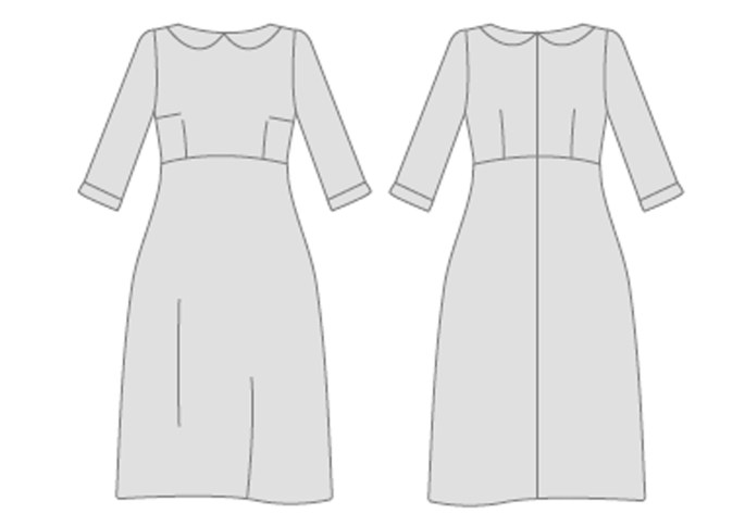Zoe Dress with collar - By Hand London - Sewing Blog - Two Sewing Sisters