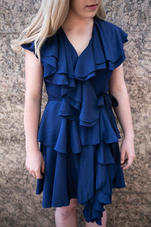 Back - Colour in Thirds: Tessuti Competition - Two Sewing Sisters - Indigo - Erin Ritchie - Ruffles