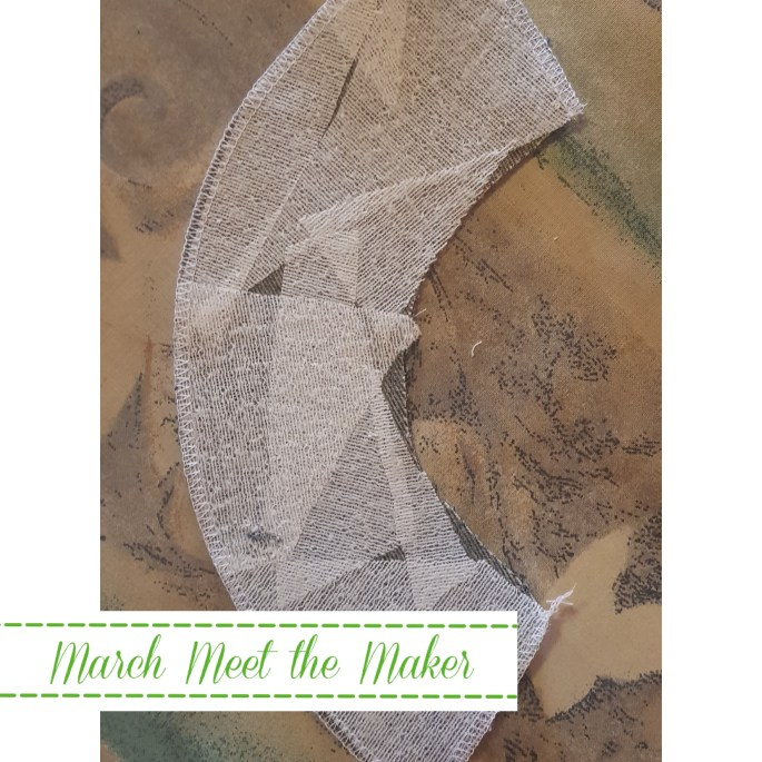Meet the Maker Day 6 | Reducing Waste ・・・ What do we do with our interfacing scraps? We have an offcuts bag and use them on our upcycling projects like on the underside of this neck facing.