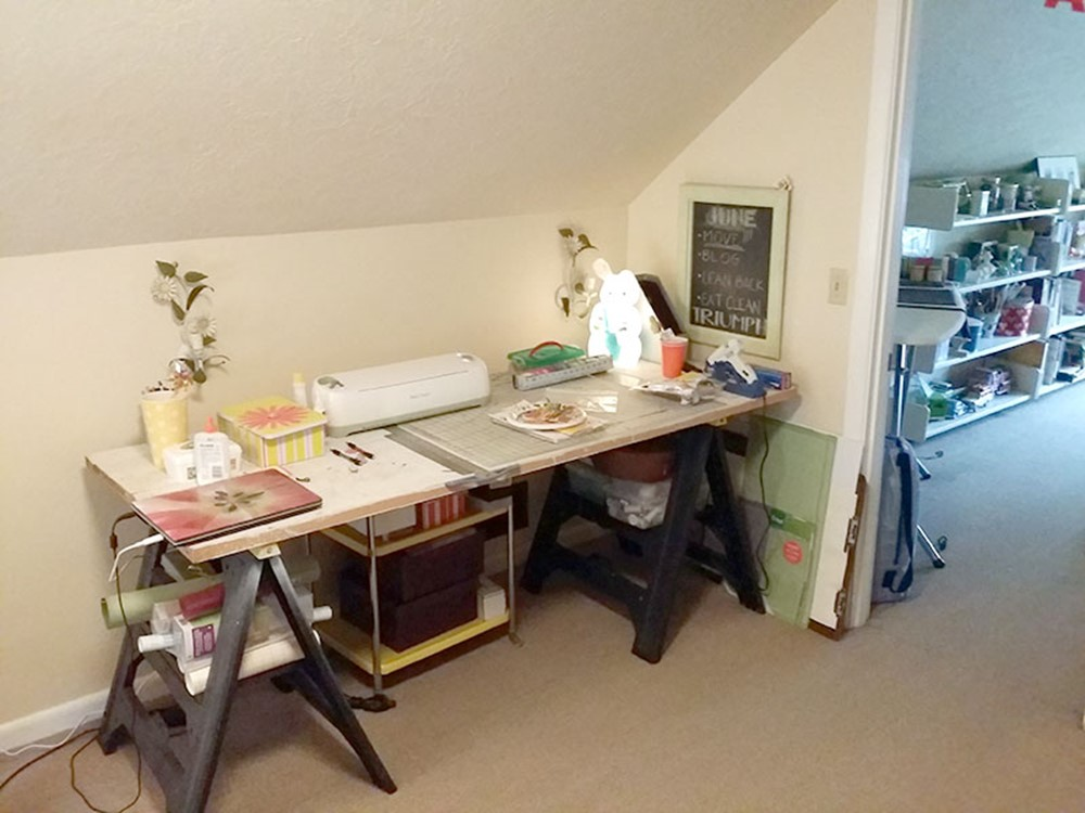 Craft Area of Craft Studio and Home Office Before Remodel