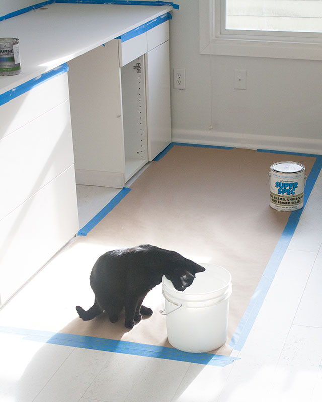 Painting the Desktop Surface During the Craft Studio and Home Office Remodel