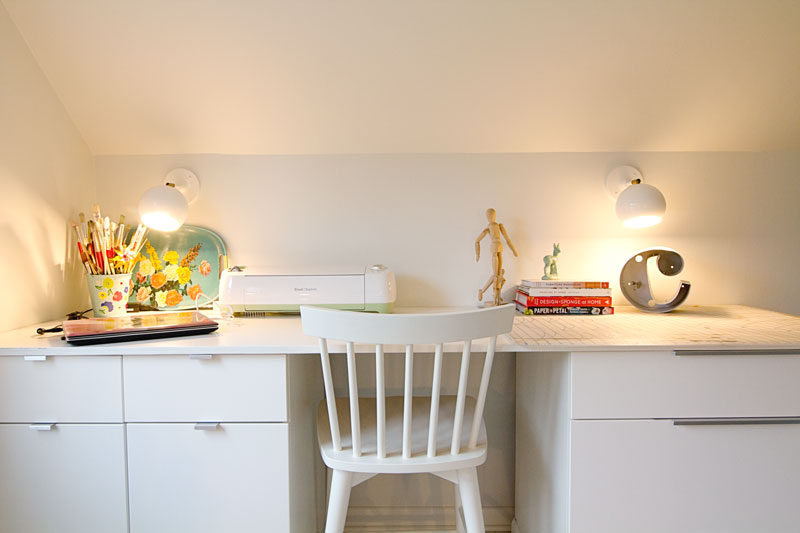 Craft Studio and Home Office Reveal - Craft Desk