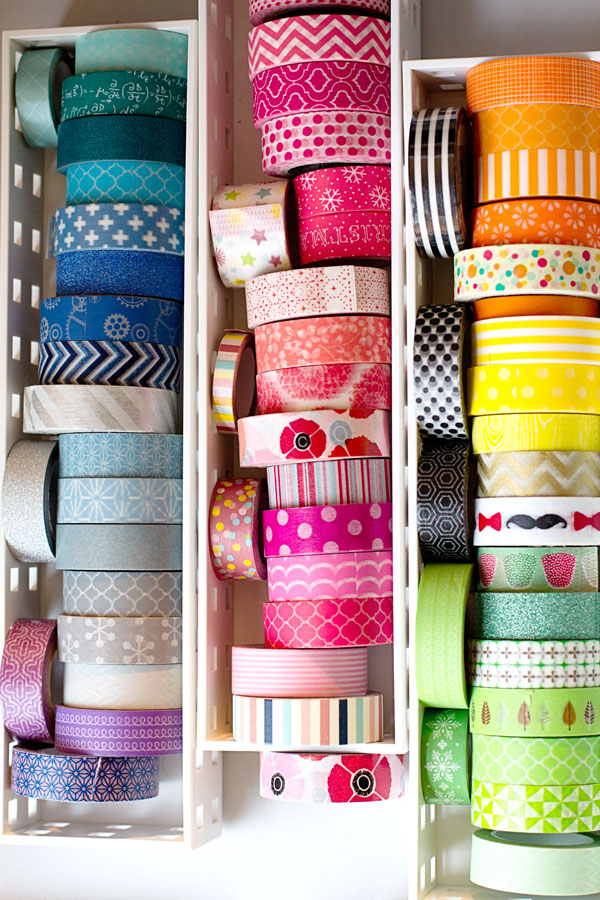 Craft Studio and Home Office Reveal - Washi Tape Drawer