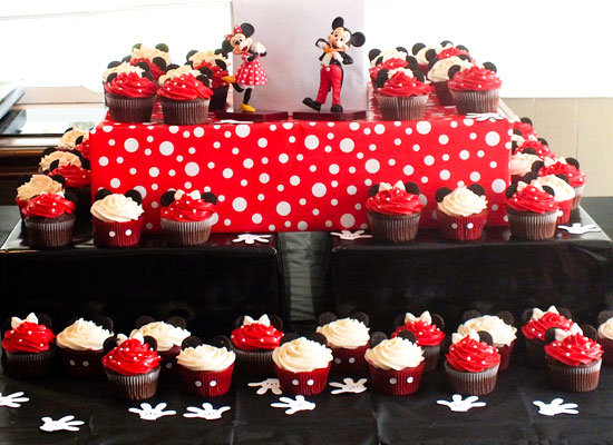 Groovy Mickey Minnie Mouse Cupcakes Two Sisters Birthday Cards Printable Riciscafe Filternl
