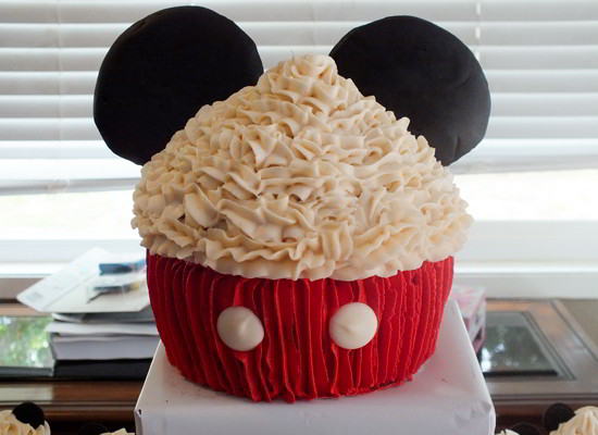 Superb Mickey Mouse Cupcake Cake Two Sisters Funny Birthday Cards Online Inifofree Goldxyz