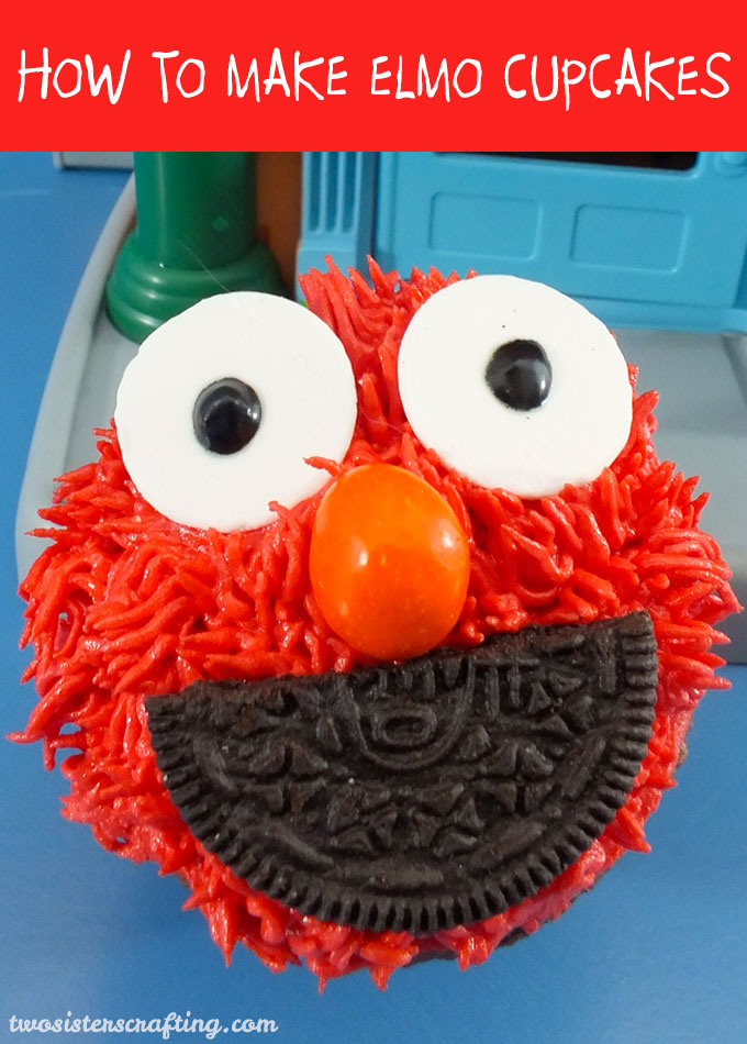 How To Make Elmo Cupcakes Two Sisters