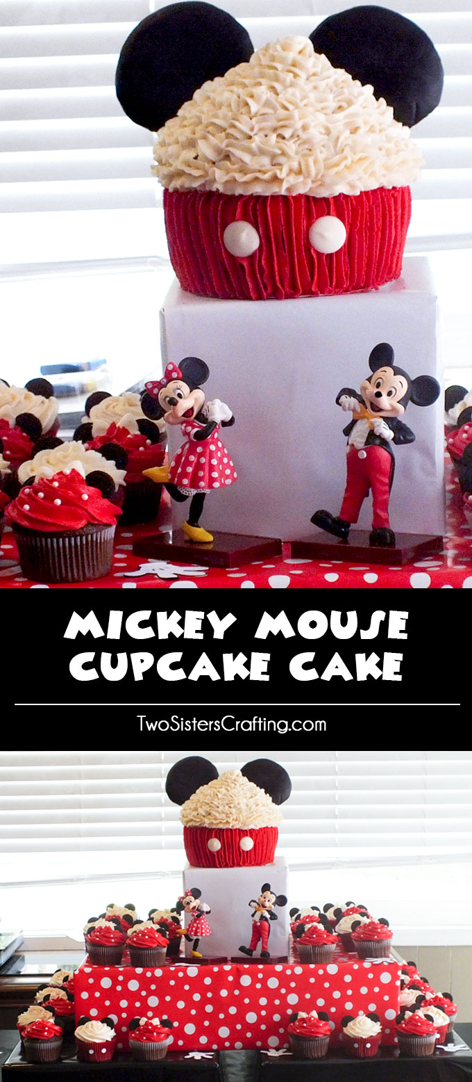 Wondrous Mickey Mouse Cupcake Cake Two Sisters Funny Birthday Cards Online Inifofree Goldxyz