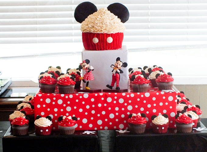 Magnificent Mickey Mouse Cupcake Cake Two Sisters Funny Birthday Cards Online Inifofree Goldxyz