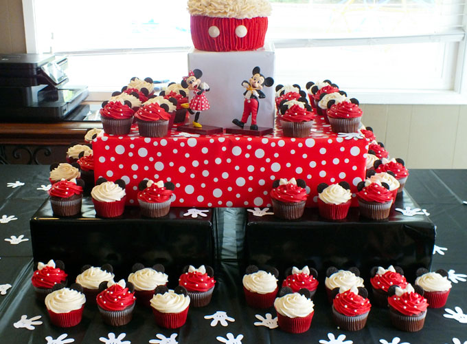Pleasing Mickey Mouse Cupcake Stand Two Sisters Birthday Cards Printable Riciscafe Filternl