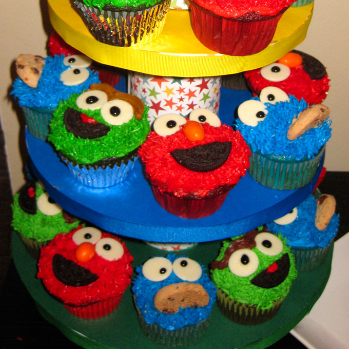 Sesame Street Cupcakes Two Sisters