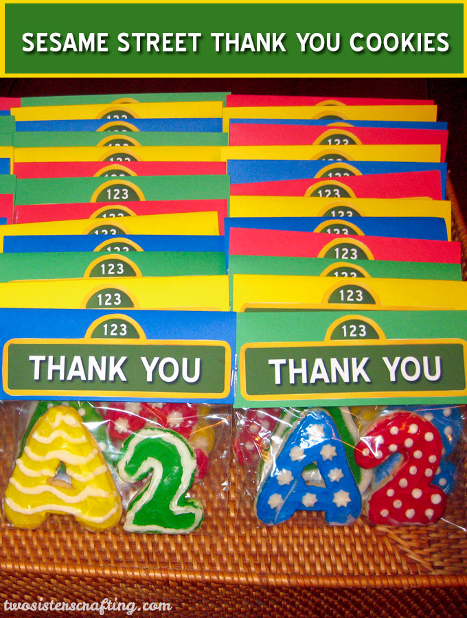 Sesame Street Thank You Cookies Two Sisters