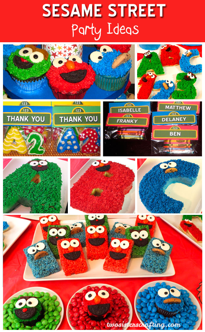 Swell Sesame Street Party Ideas Two Sisters Personalised Birthday Cards Petedlily Jamesorg