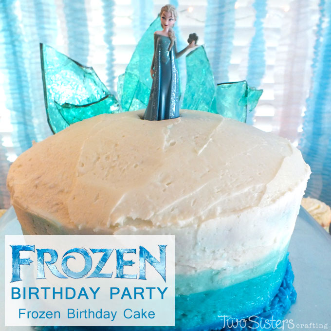 Terrific Frozen Birthday Cake With Ombre Frosting Two Sisters Funny Birthday Cards Online Overcheapnameinfo