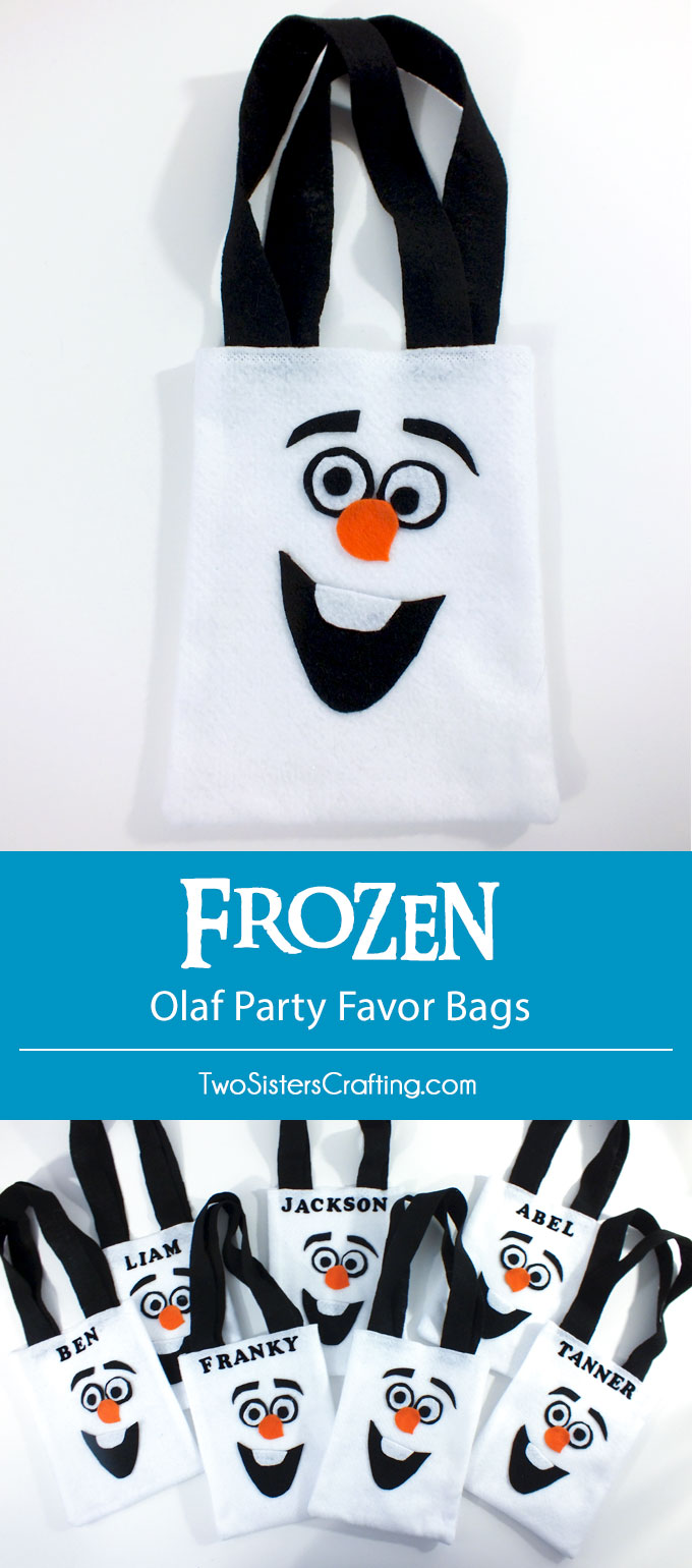 Frozen Olaf Party Favor Bags Two Sisters