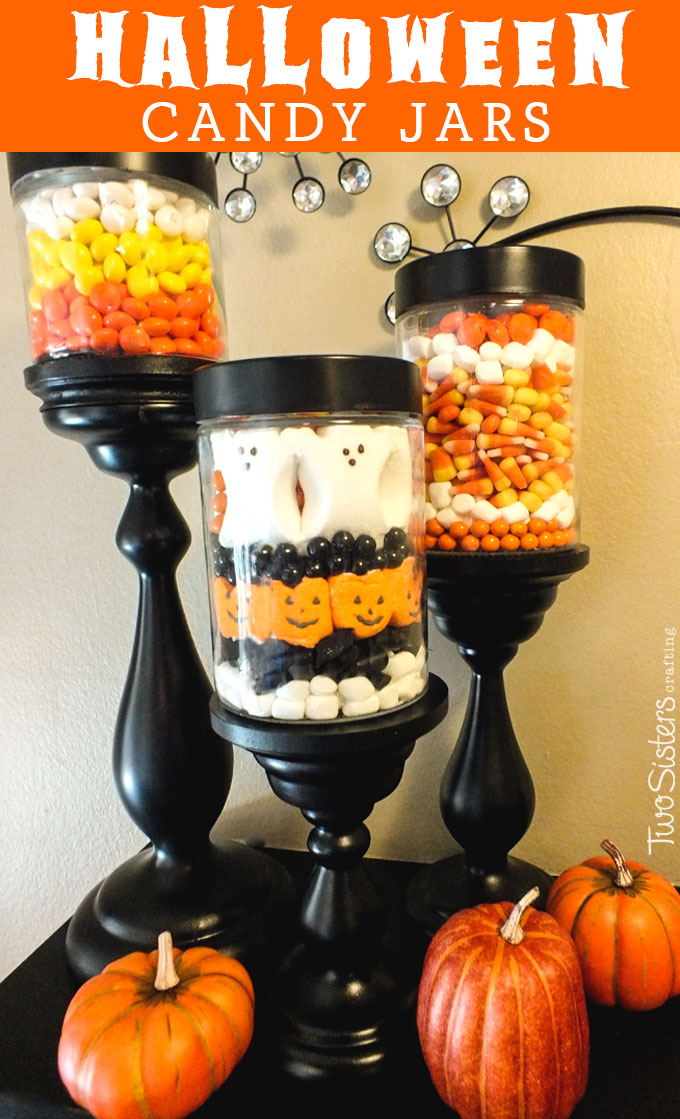 Halloween Candy Jars Two Sisters