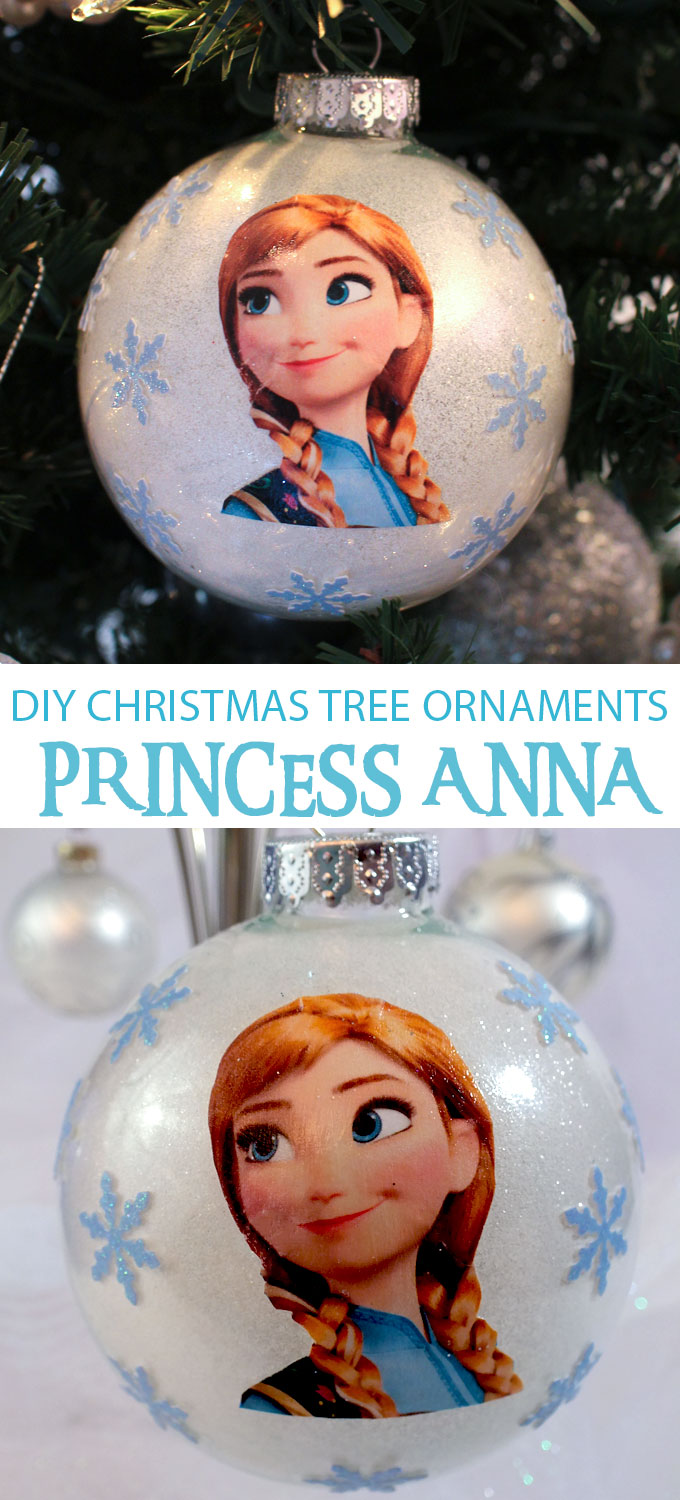 Diy Frozen Christmas Ornaments Two Sisters