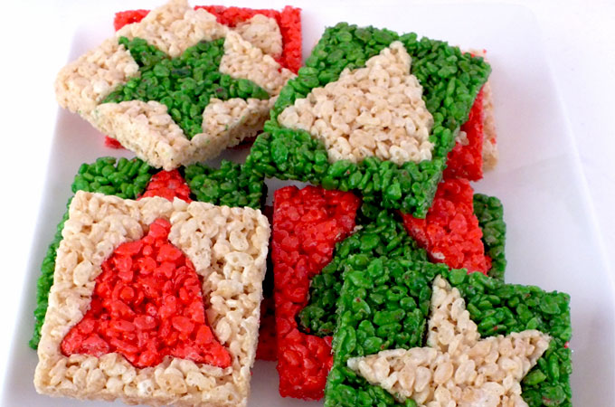 Merry Christmas Rice Krispie Treats | Christmas Rice Krispie Treats Recipes You'll Love