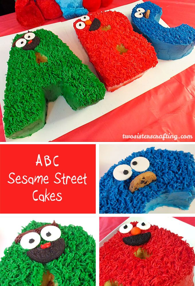 Wondrous Abc Sesame Street Cakes Two Sisters Funny Birthday Cards Online Hetedamsfinfo
